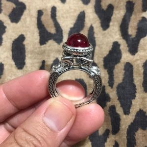 Vintage Red Gemstone Ring
